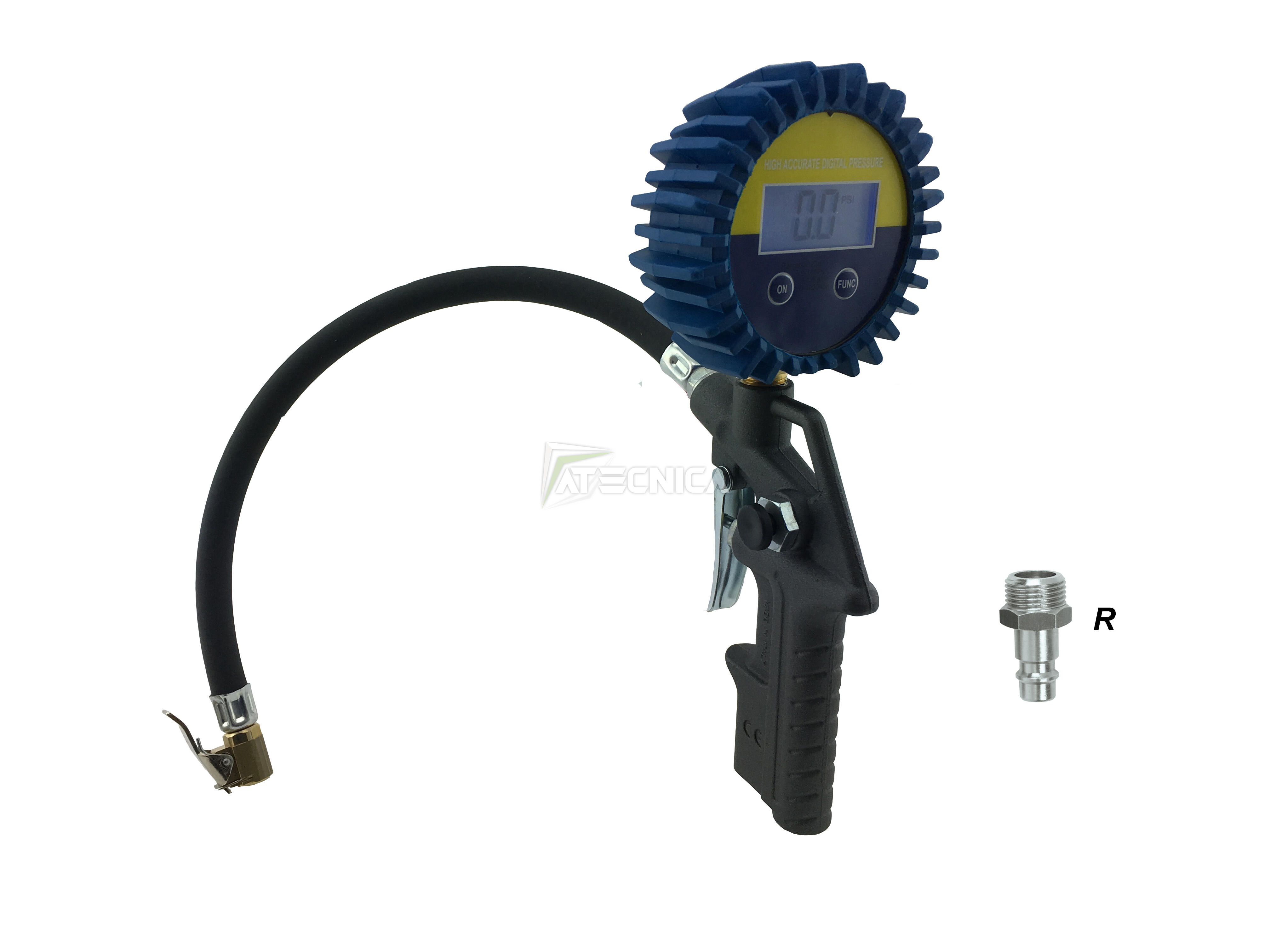 Pistola di gonfiaggio aria compressa 53DG manometro DIGITALE pneumatici gomme R