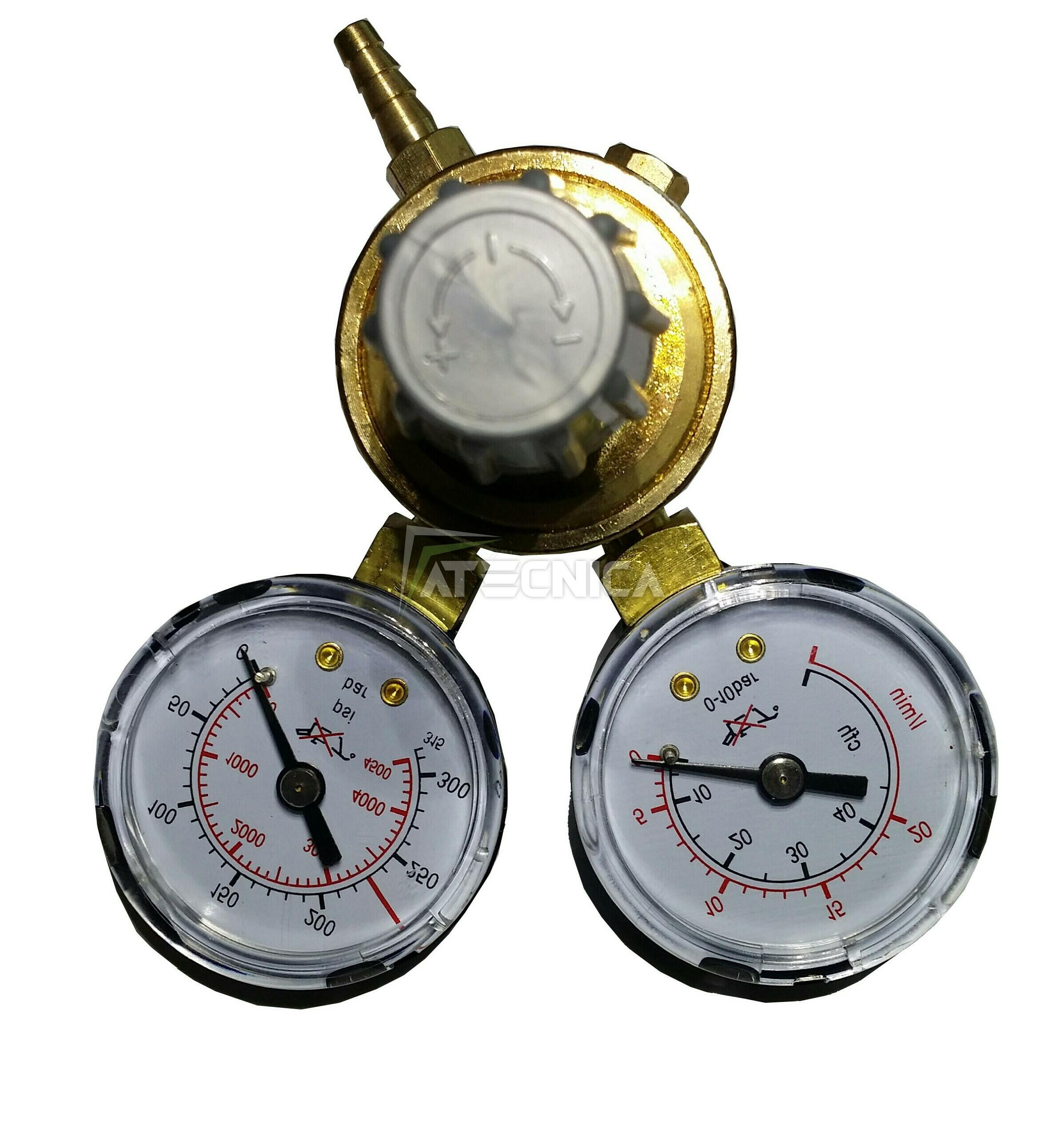 CO2 für Schweißgerät Wig Regler Druckregler Gas Argon Mig//Mag Zwei Manometer