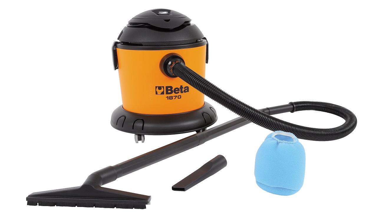 Aspiratore 20 lt solidi e liquidi beta tools 1870 1200 w di potenza con spazzola e tubo 5 mt ...