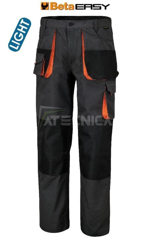 bd4d63a7d0 Pantaloni da lavoro lunghi Beta Work 7860E modello leggero multitasche di  colore grigio
