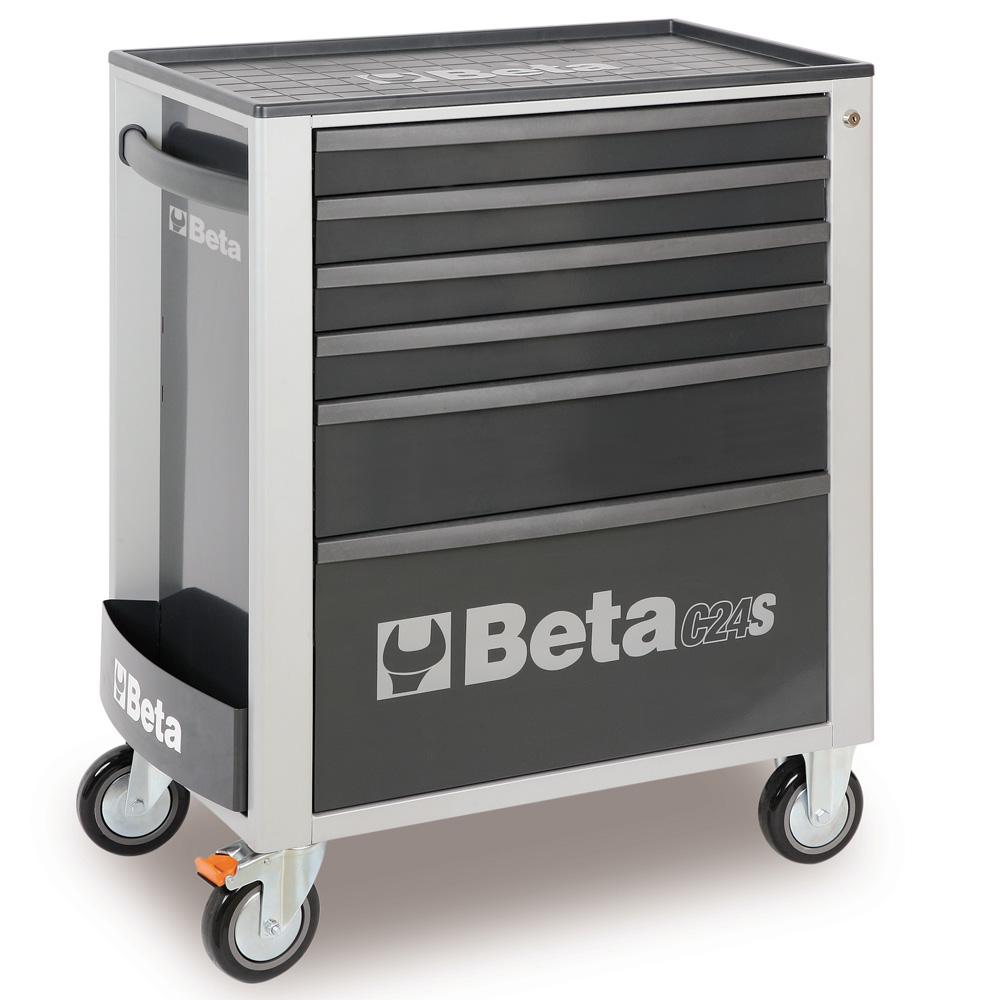 Carrello da officina beta c24 c24s g 6 grigio con 6 for Piani di garage rv con officina