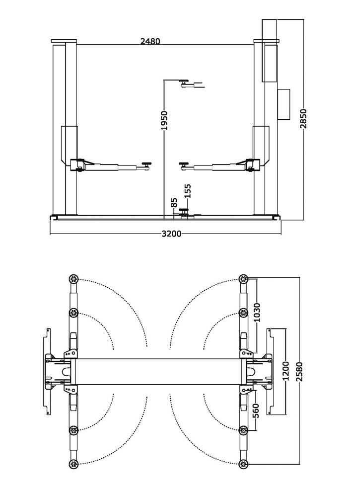 Ponte sollevatore auto 220v zavagli z61m 3s for Ponte sollevatore auto 220v usati