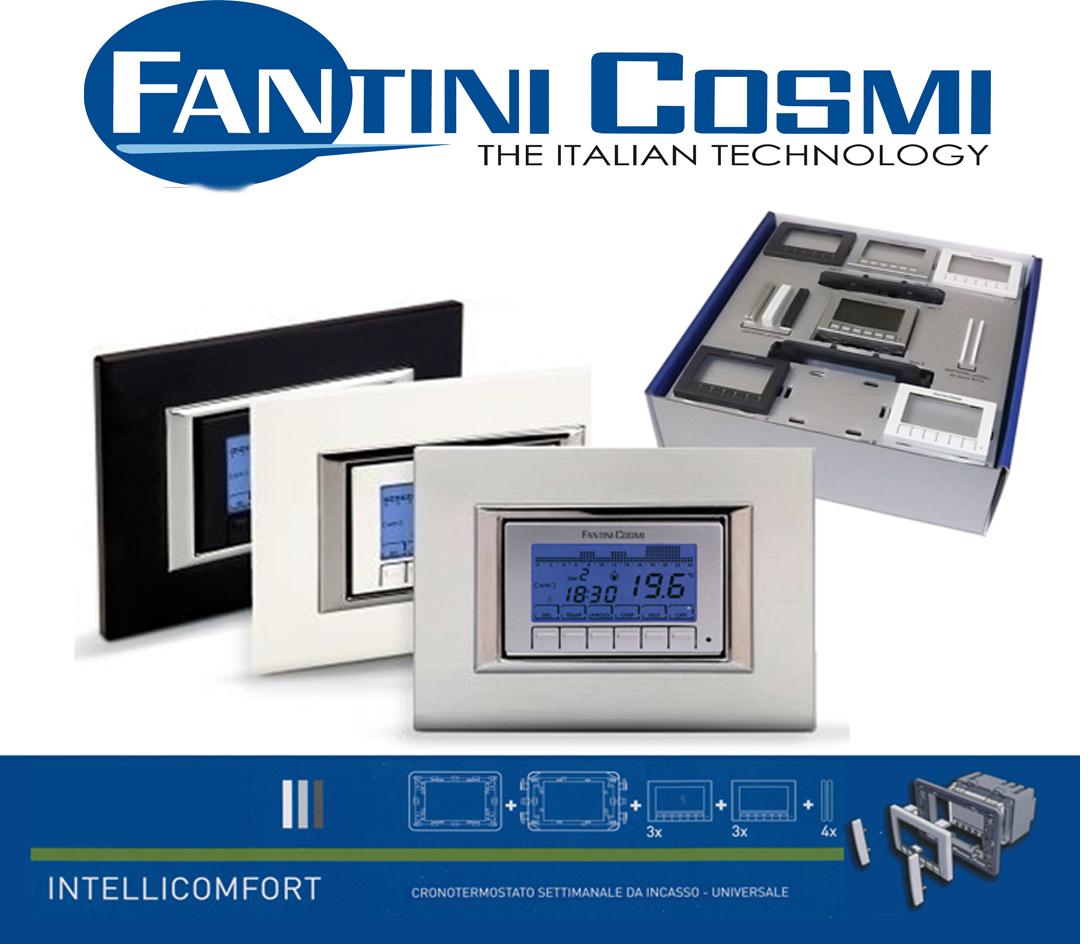 Cronotermostato settimanale 3 colori ch141 batteria for Cronotermostato fantini cosmi ch141