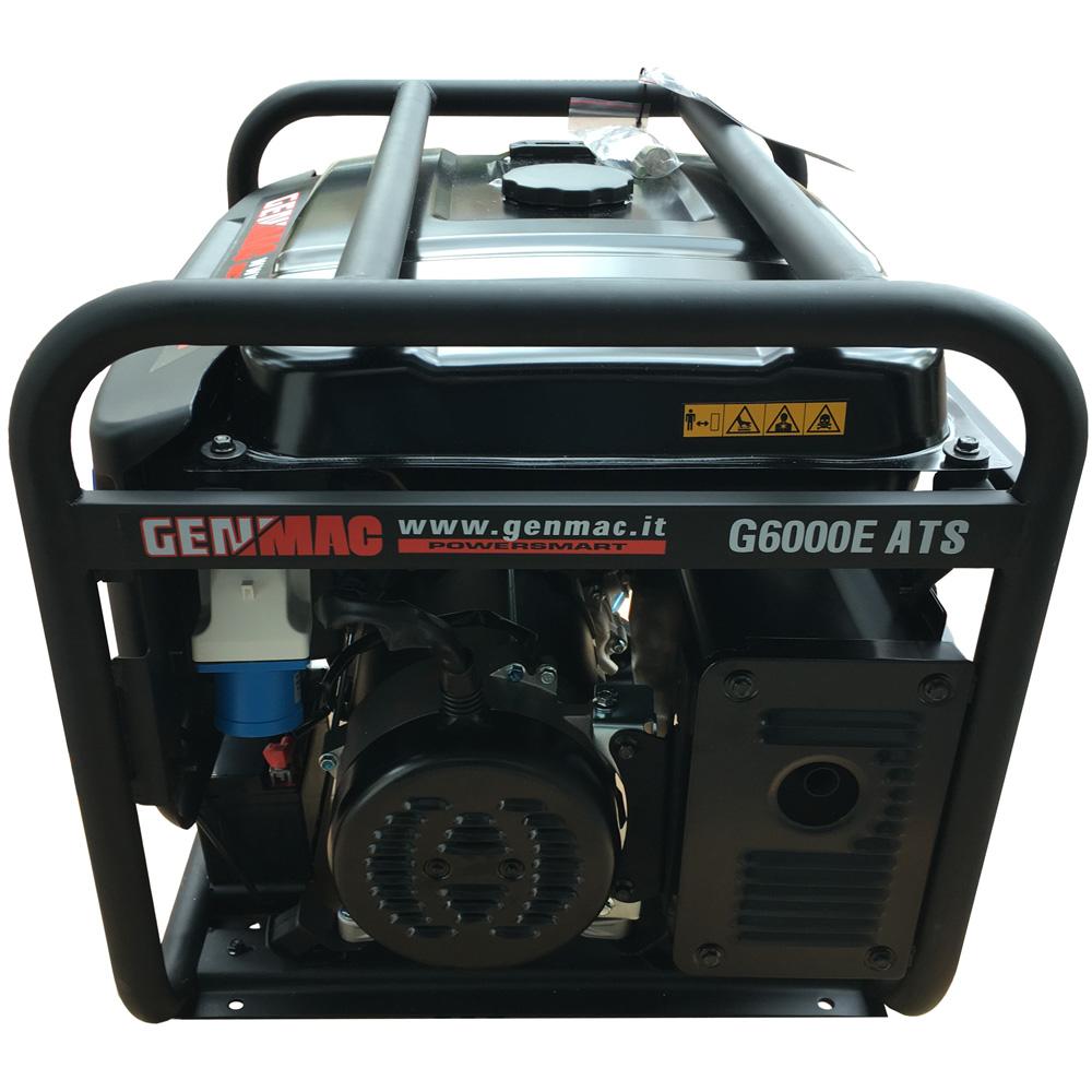 Gruppo elettrogeno 6kw genmac g6000e ats generatore con for Generatore di corrente con avviamento automatico