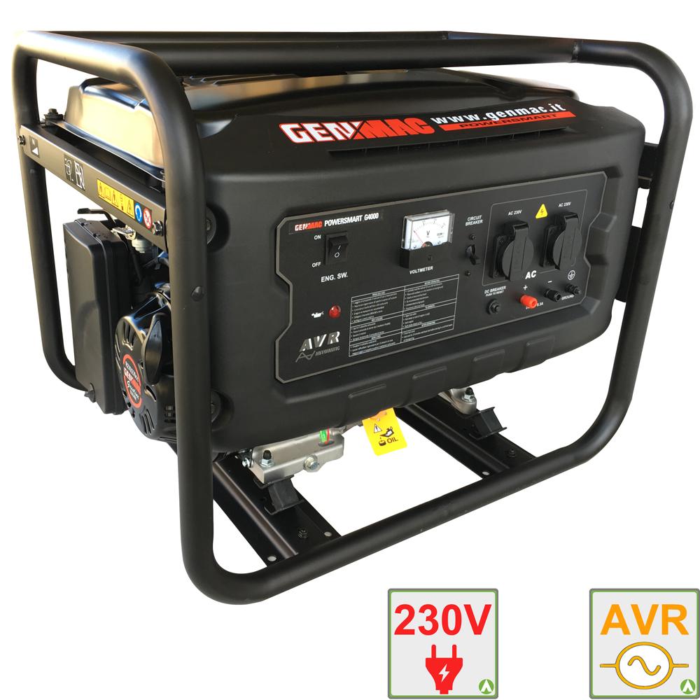 Gruppo elettrogeno 4 kw genmac g4000 generatore di for Generatore di corrente 10 kw