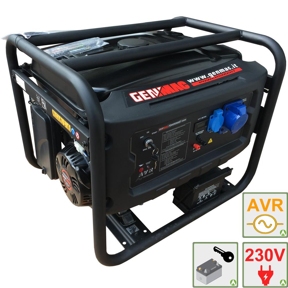 Generatore di corrente 6kw genmac 6000e gruppo elettrogeno for Generatore di corrente con avviamento automatico