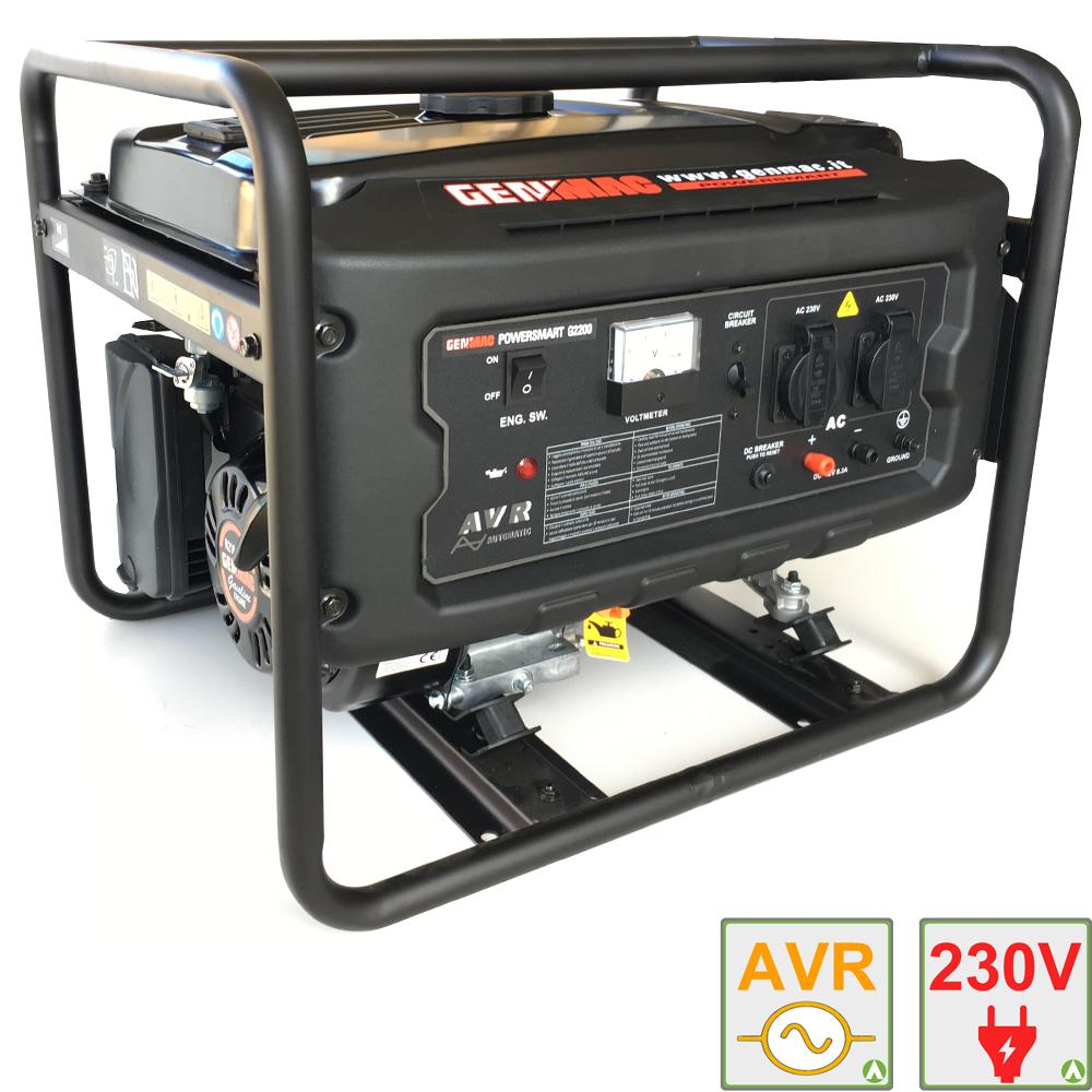Gruppo elettrogeno 2 2 kw genmac g2200 generatore di for Generatore di corrente 10 kw