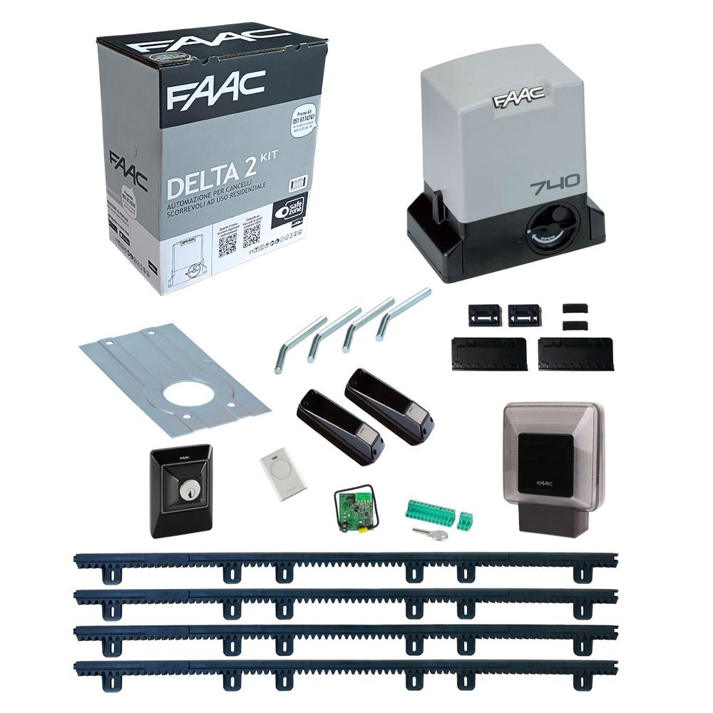 Schema Elettrico Cancello Scorrevole Faac 740 : Kit automazione cancello scorrevole faac delta