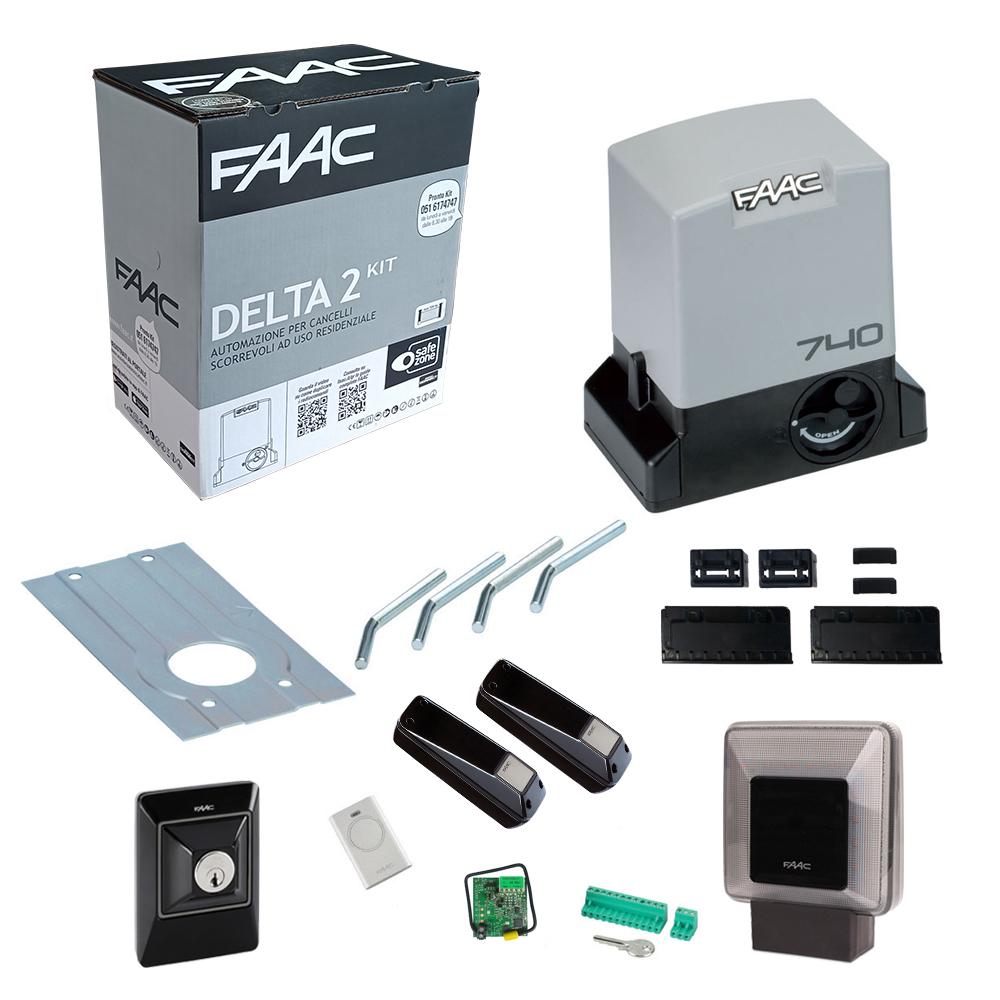Schema Elettrico Cancello Scorrevole Faac 740 : Kit cancello scorrevole faac delta safe