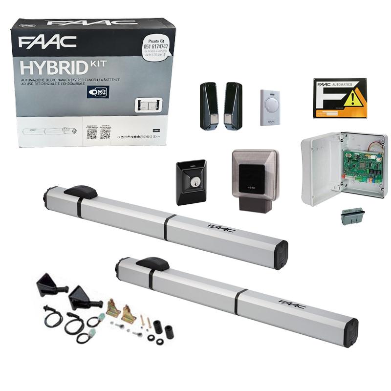 Motori Per Cancelli A Due Ante Faac.Kit Automazione Idraulica Ante Battenti Faac Hybrid Kit 24v 105683
