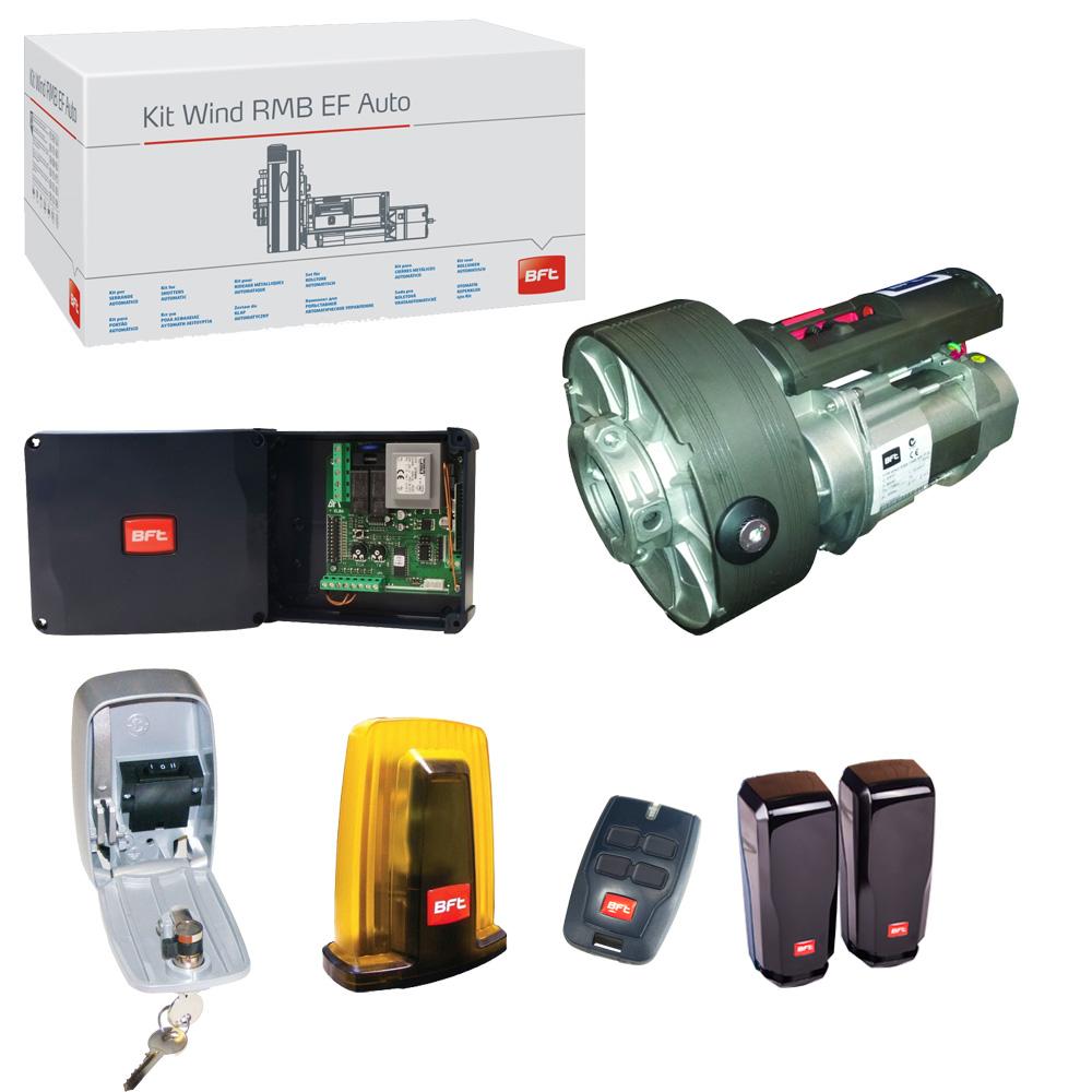 Kit completo automazione per serranda garage bft wind 130b for Fotocellule bft 130