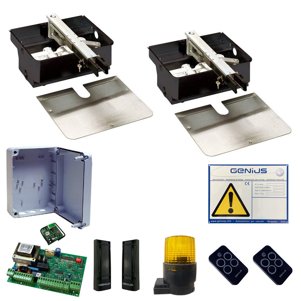 Motori Per Cancelli A Due Ante Faac.Kit Automazione Cancello Interrato Faac Genius Kit Roller 230 Rc 500 Kg 3 5 M Atecnica
