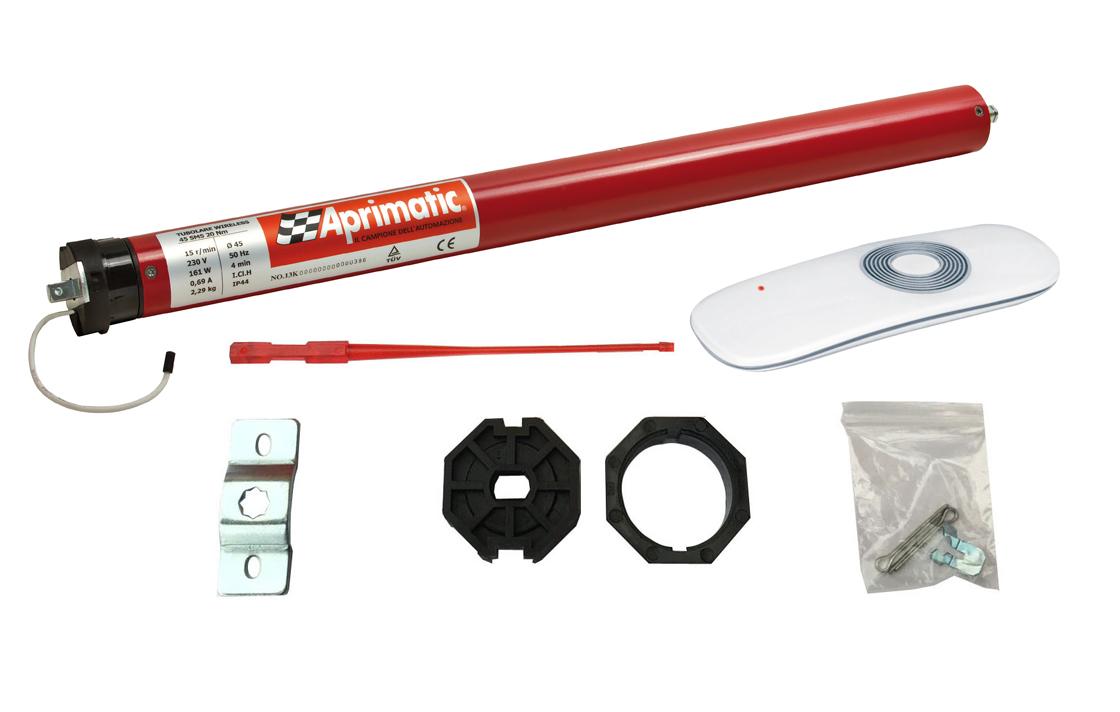 Motorizzare Tende Da Sole.Motore Per Tende Da Sole 100 Kg 50 Nm Con Centralina 1 Telecomando