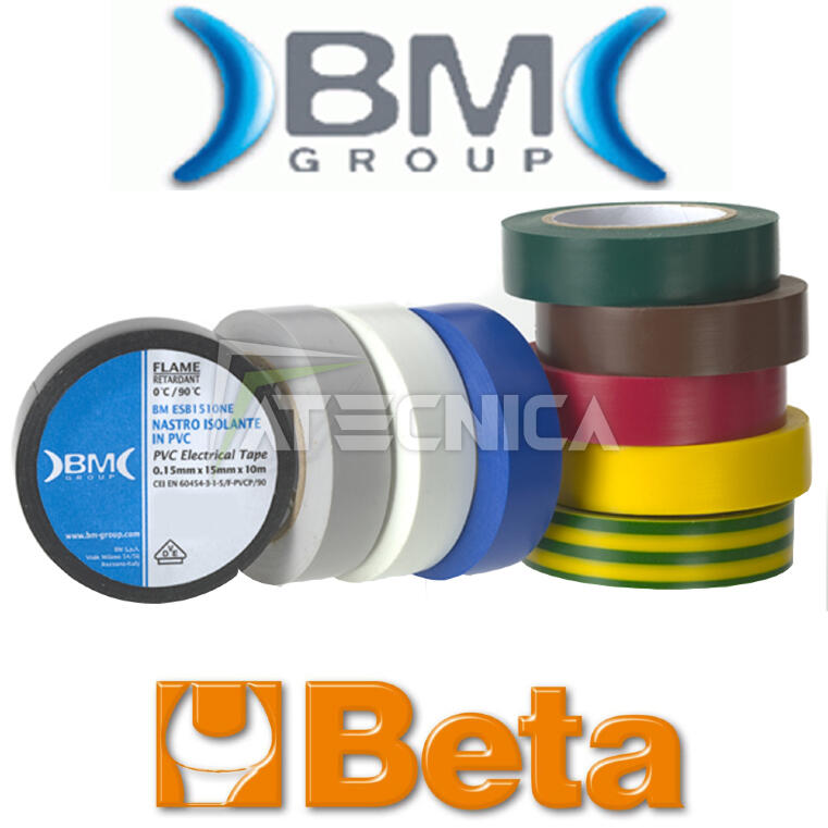Nastro isolante largo dielettrico professionale BM BETA ESB2525 rosso 25mm x25m