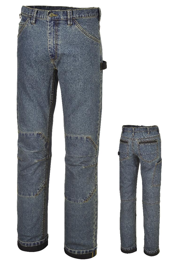 pantaloni jeans denim da lavoro lunghi slim fit beta work 7526 elasticizzati con tasche. Black Bedroom Furniture Sets. Home Design Ideas