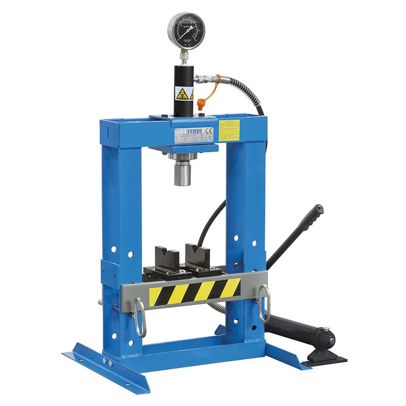 Pressa idraulica manuale 10 ton fervi p001 10 tavola for Pressa idraulica manuale