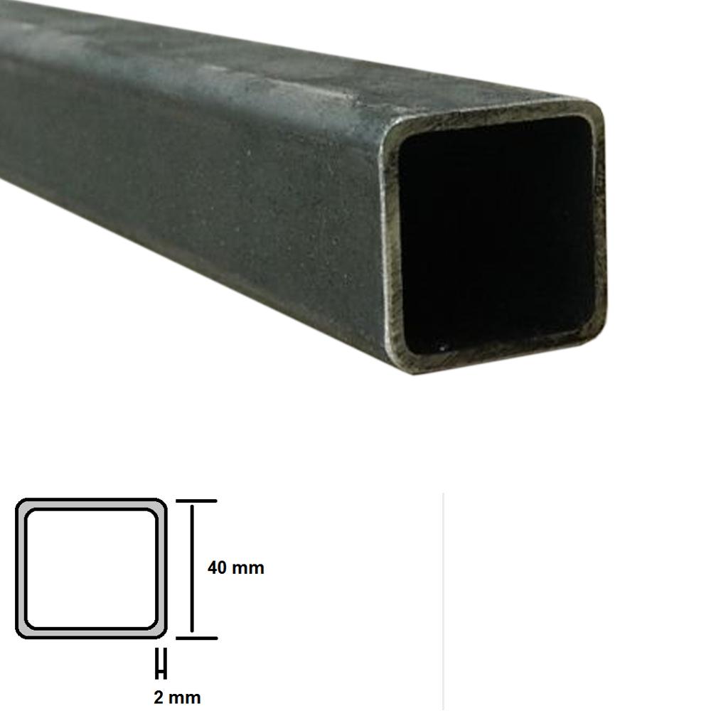 Tubolare in ferro a profilo quadrato 40 x 40 x 2 mm grezzo for Ferro tubolare quadrato prezzo
