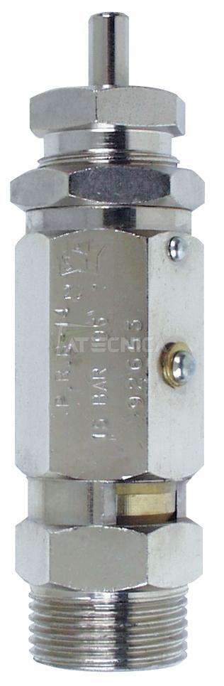 """Valvola di sicurezza fiac 566/2 qualificata con certificazione ispesl m 1/2"""" per aria compressa ..."""