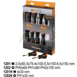 Set con 10 giraviti Beta Tools 1203//S10 taglio e croce phillips universali